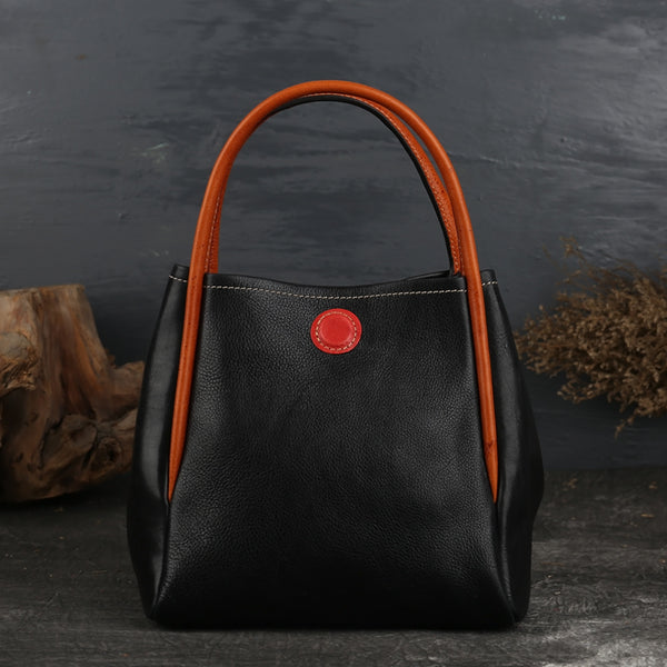 Womens Leather Bucket Bag Purse Leather Tote Handbags for Women beautiful