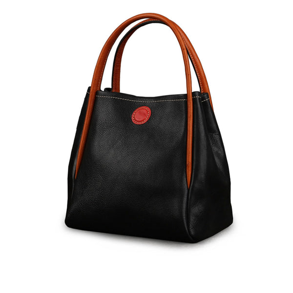Womens Leather Bucket Bag Purse