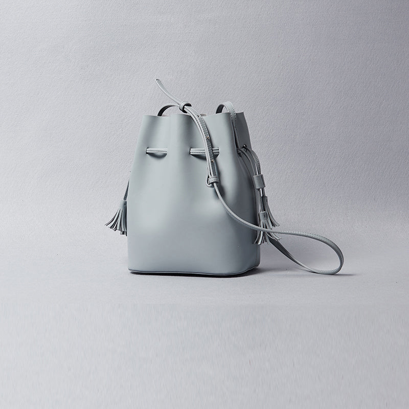 Womens Leather Bucket Bag
