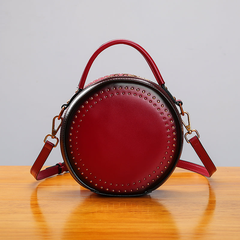 Womens Leather Circle Bag Crossbody Bags Shoulder Bag Purses for Women best
