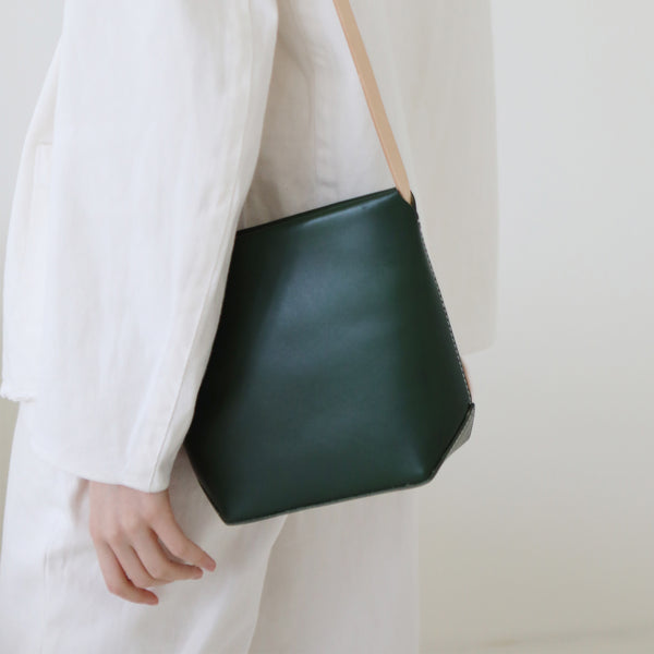Womens Leather Crossbody Bags Green