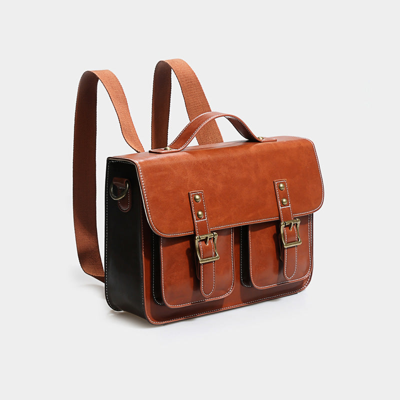 Womens Leather Crossbody Laptop Messenger Bag