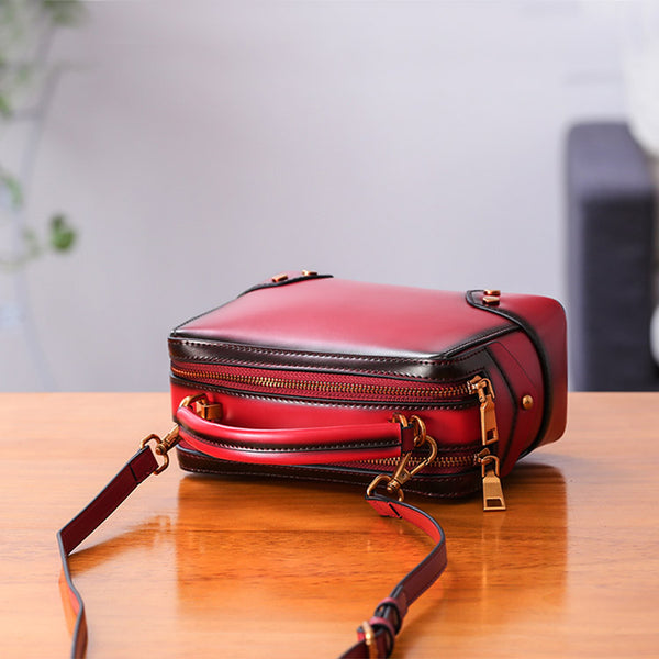 Womens Leather Cube Bag Crossbody Bags Shoulder Bag Purses for Women fashion