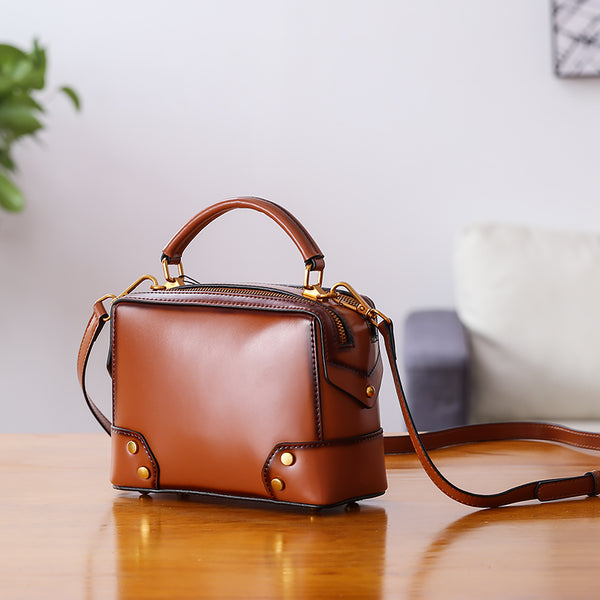Womens Leather Cube Bag Crossbody Bags Shoulder Bag Purses for Women best