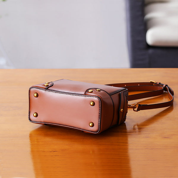 Womens Leather Cube Bag Crossbody Bags Shoulder Bag Purses for Women Designer