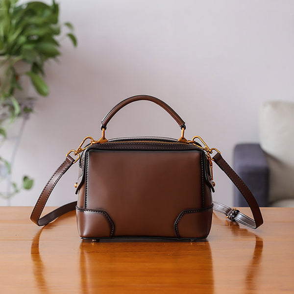 Womens Leather Cube Bag Crossbody Bags Shoulder Bag Purses for Women gift