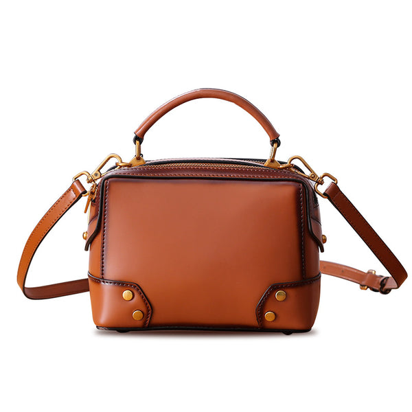 Womens Leather Cube Bag Crossbody Bags Shoulder Bag Purses for Women Accessories