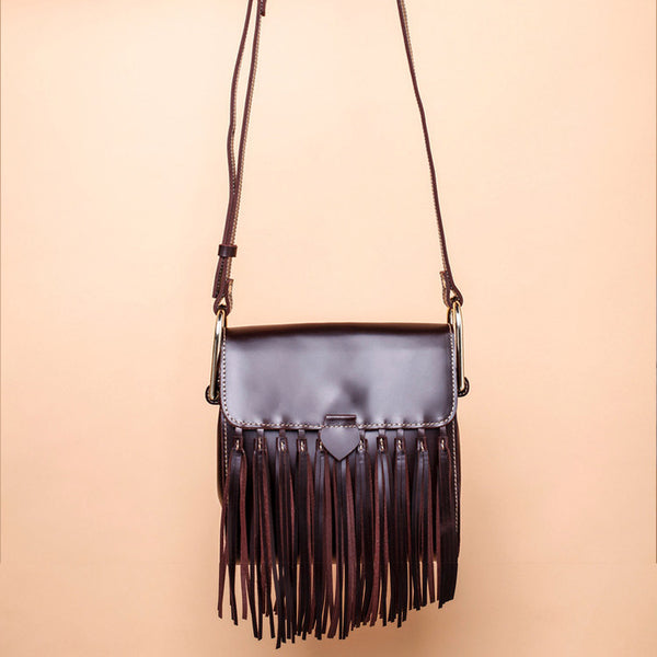 Womens Leather Fringe Crossbody Bag Western Purses Cross Shoulder Bag for Women Cool