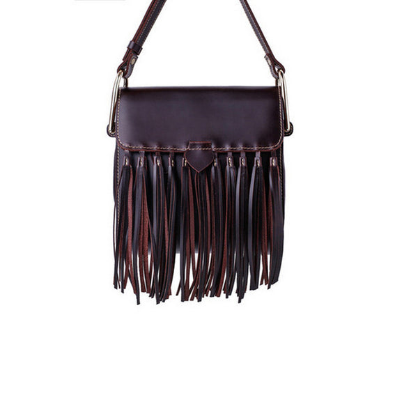 Womens Leather Fringe Crossbody Bag Western Purses Cross Shoulder Bag for Women Cute