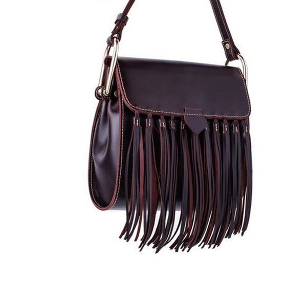 Womens Leather Fringe Crossbody Bag Western Purses Cross Shoulder Bag for Women Designer