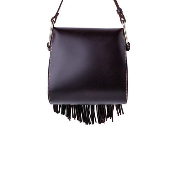 Womens Leather Fringe Crossbody Bag Western Purses Cross Shoulder Bag for Women Durable