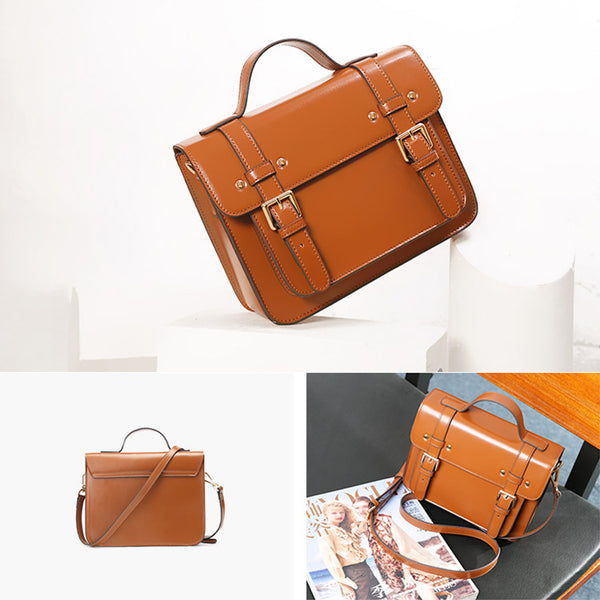 Womens Leather Satchel Bag Leather Crossbody Bag for Women Vintage Bag details