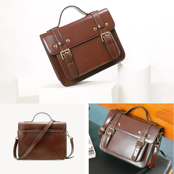 Womens Leather Satchel Bag Leather Crossbody Bag for Women