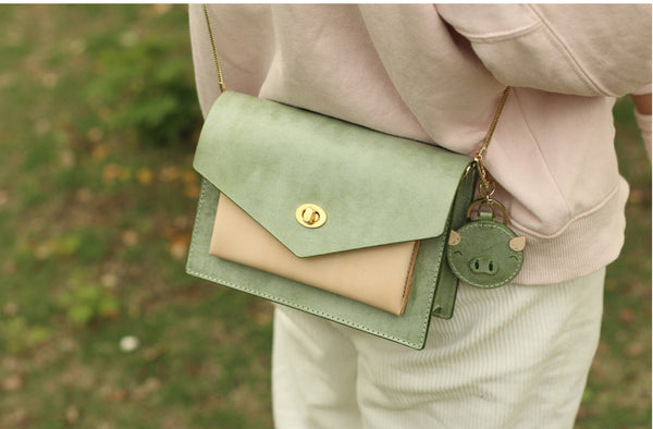 Womens Leather Small Satchel Crossbody Bag Over The Shoulder Bags Purse for Women stylish