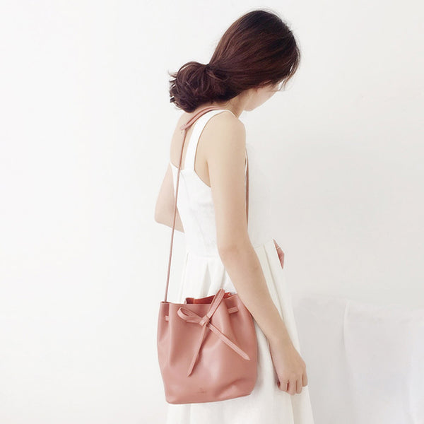 Womens Pink Leather Crossbody Bags Small Leather Shoulder Bags for Women Boutique