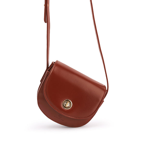 Womens Red Leather Crossbody Bags Small Crossbody Purse for Women shoulder bag Details