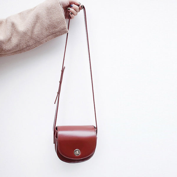 Womens Red Leather Crossbody Bags Small Crossbody Purse for Women shoulder bag cute