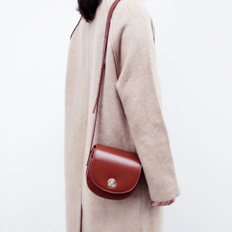 Womens Red Leather Crossbody Bags