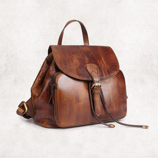 Womens Small Brown Leather Backpack Cute Backpacks for Women best