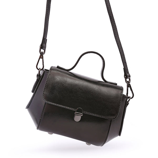 Womens Small Leather Crossbody Bags Leather Shoulder Bag Purses for Women Satchel bag cool