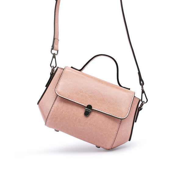 Womens Small Leather Crossbody Bags Leather Shoulder Bag Purses for Women Satchel bag cute