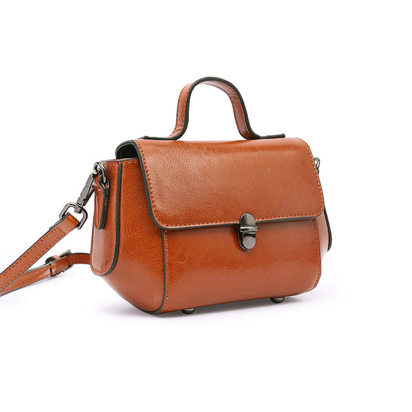 Womens Small Leather Crossbody Bags Leather Shoulder Bag Purses for Women Satchel bag