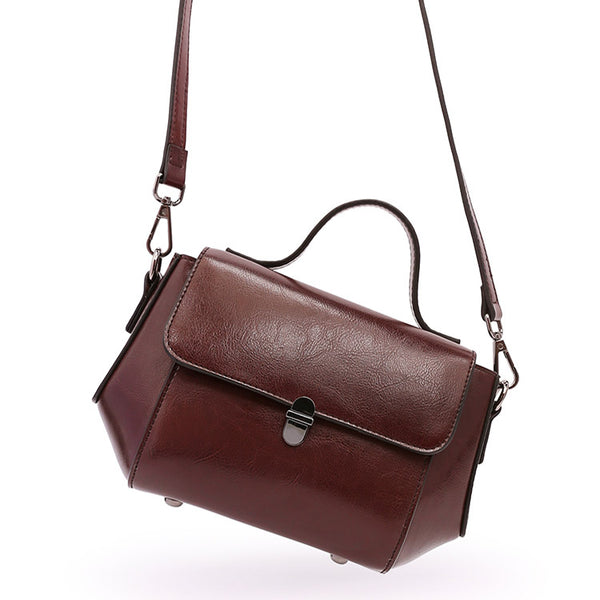 Womens Small Leather Crossbody Bags Leather Shoulder Bag Purses for Women cute