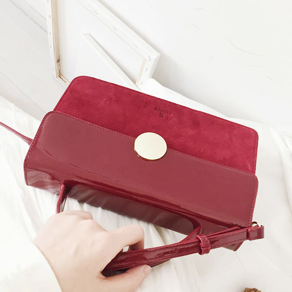 Womens Small Leather Satchel Bag Red Leather Crossbody Bags for Women beautiful
