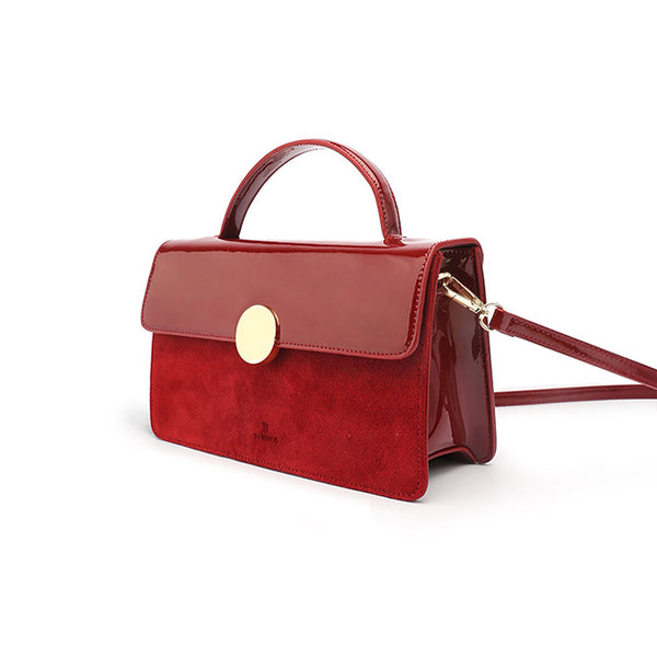 Womens Small Leather Satchel Bag Red Leather Crossbody Bags for Women cool