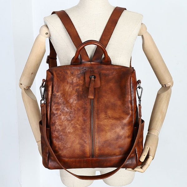 Womens Genuine Leather Rucksack Backpack Cross Shoulder Bag for Women Boutique