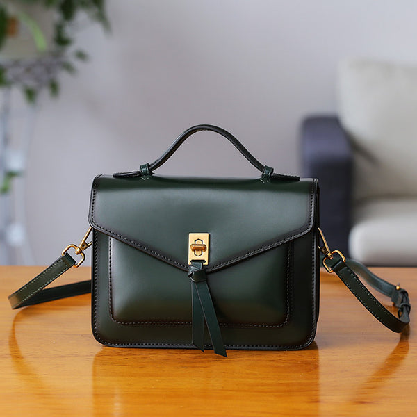 Womens Square Leather Satchel Bags Purses Handbags for Women cool