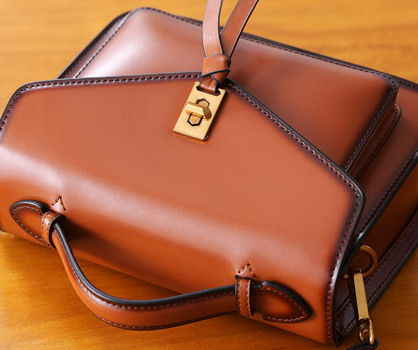 Womens Square Leather Satchel Bags Purses Handbags for Women stylish