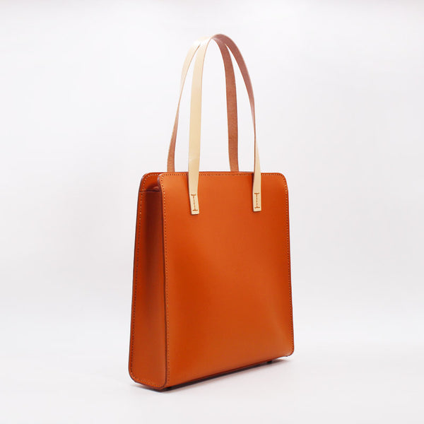 Stylish Womens Brown Leather Tote Handbags Shoulder Bags Purses for Women