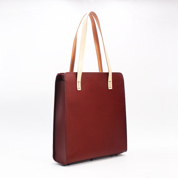 Womens Tote Bag Brown Leather Handbags Shoulder Bag for Women gift
