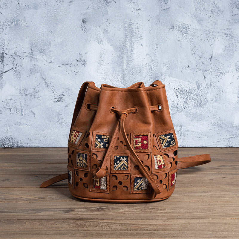 Womens Vegan Leather Boho Crossbody Bucket Bag Purse Sling Bags For Women Accessories