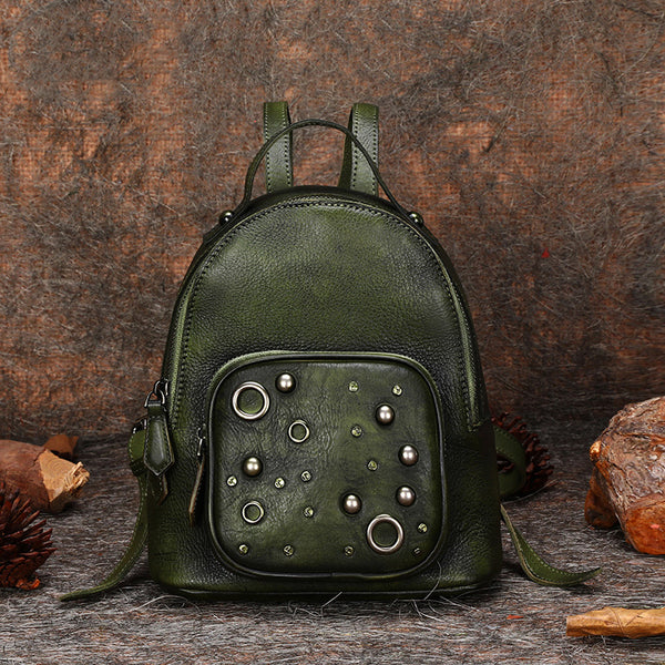 Womens Vintage Leather Small Backpack Purse Cool Backpacks for Women best