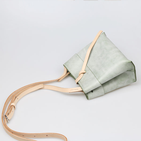 Womens Wax Leather Bucket Bag Crossbody Bags Shoulder Bag for Women best