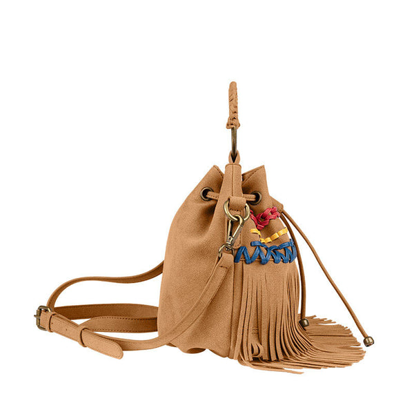 Womens Western Vegan Leather Fringe Crossbody Purse Hobo Bucket Bag for Women Best