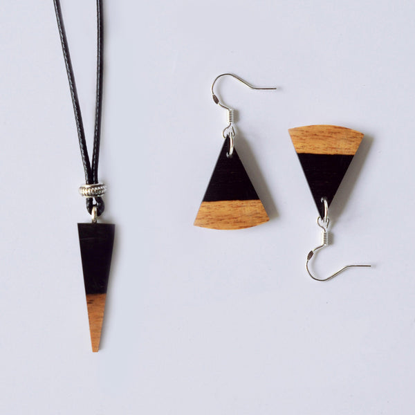 Wood Pendant Necklace Handmade Fashion Jewelry Accessories Gift Women unique