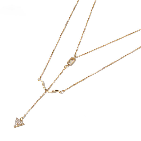 Y-Necklace Gold Fashion Jewelry Accessories Women modern