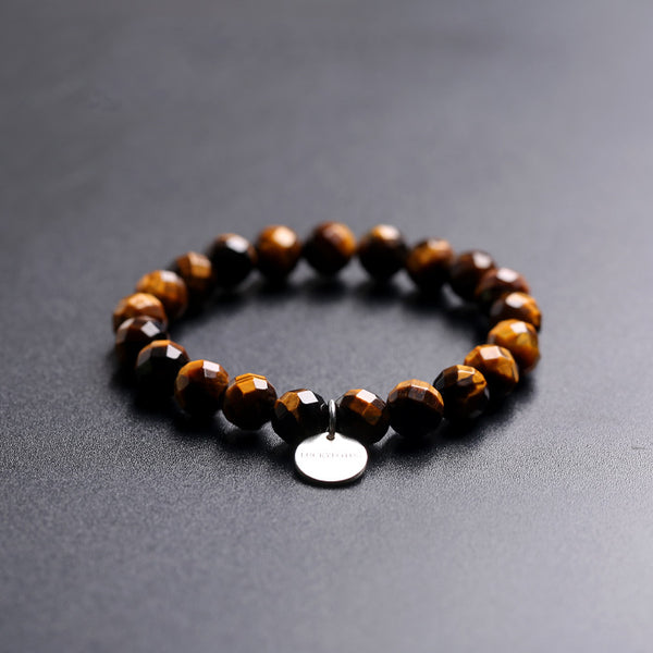 Yellow Tigereye Beaded Bracelets Handmade Gemstone Jewelry Accessories Gift Women Men