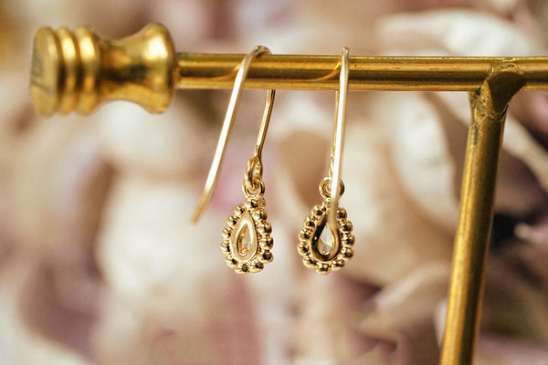 Zircon Drop Dangle Earrings Gold Plated Jewelry Accessories Women gift