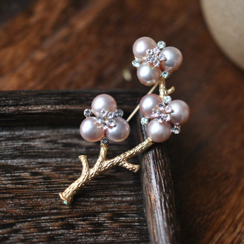 Freshwater Pearl Brooch June Birthstone Jewelry Accessories Gift For Women