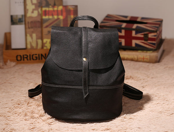 Vintage Leather Womens Backpack Purse Cool Backpacks for Women
