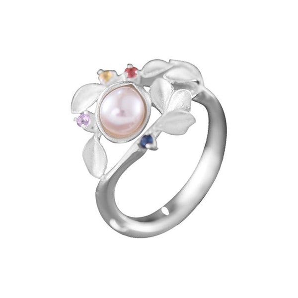 unique Freshwater Pearl Silver Ring june Birthstone