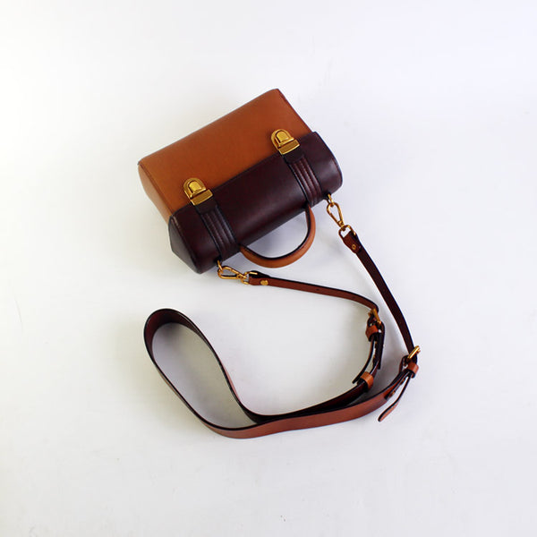 vintage Handmade Leather Crossbody Shoulder Bags Case Purses Accessories Gifts Women brown
