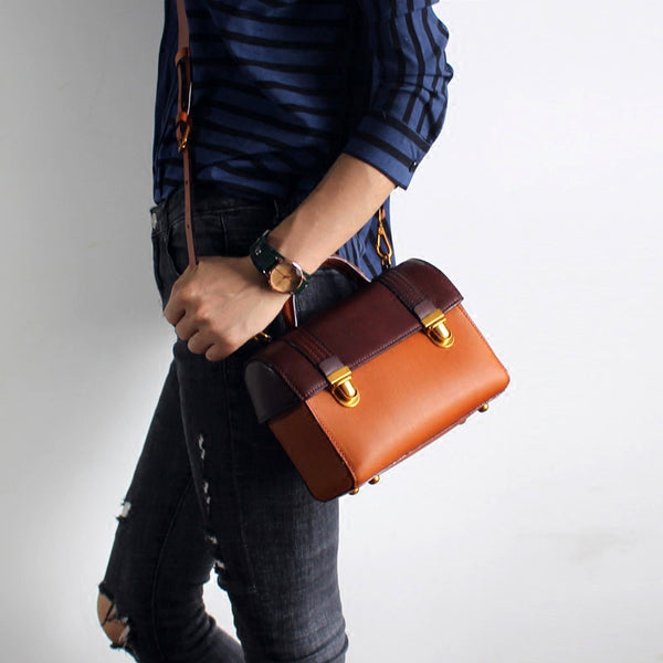 vintage Handmade Leather Crossbody Shoulder Bags Case Purses Accessories Gifts Women good purse