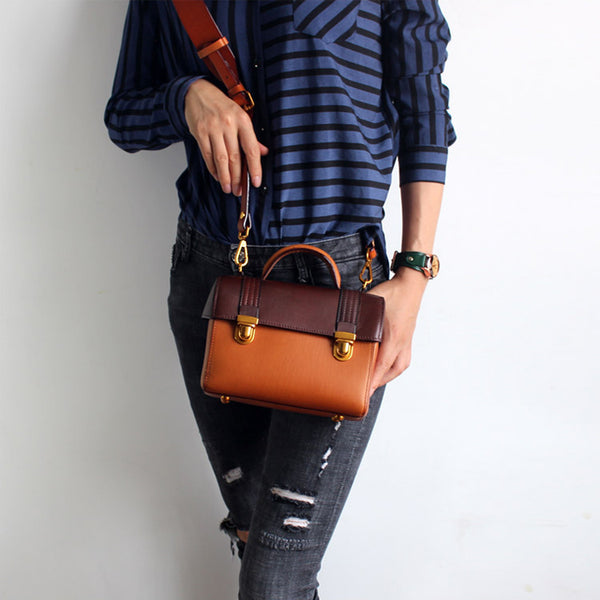vintage Handmade Leather Crossbody Shoulder Bags Case Purses Accessories Gifts Women loverly bag