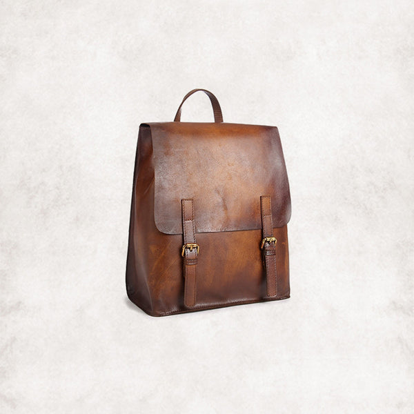 vintage leather backpack bag women handbags