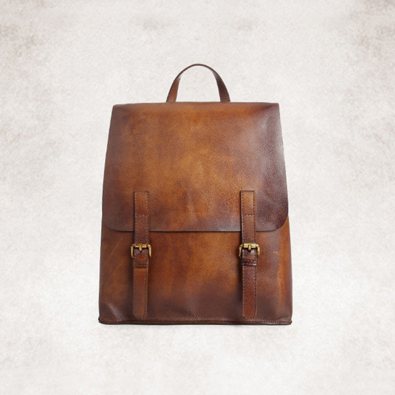 201e75ae13d Vintage Womens Brown Leather Backpack Purse Cool Backpacks for Women